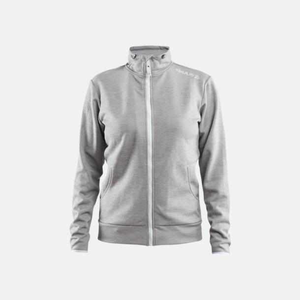 Grey Melange Leisure Jacket (dam) Craft funktionsjacka med huva i herr- och dammodell med reklamtryck