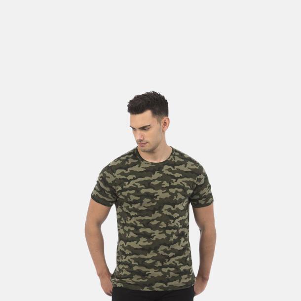 Kamouflage mönstrade t-shirts med reklamtryck