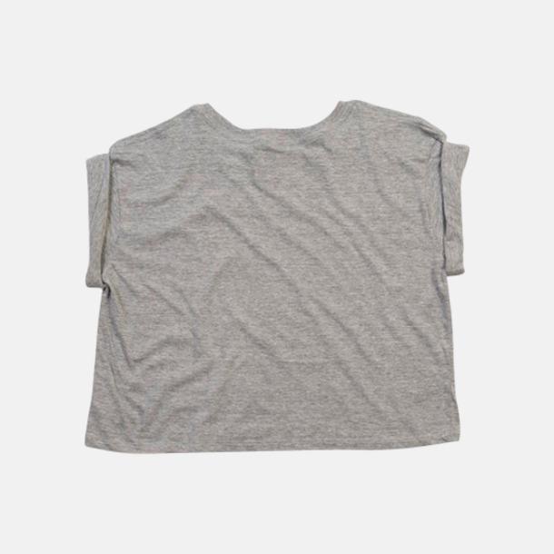 Heather Grey Melange Mag t-shirts av ekobomull med reklamtryck