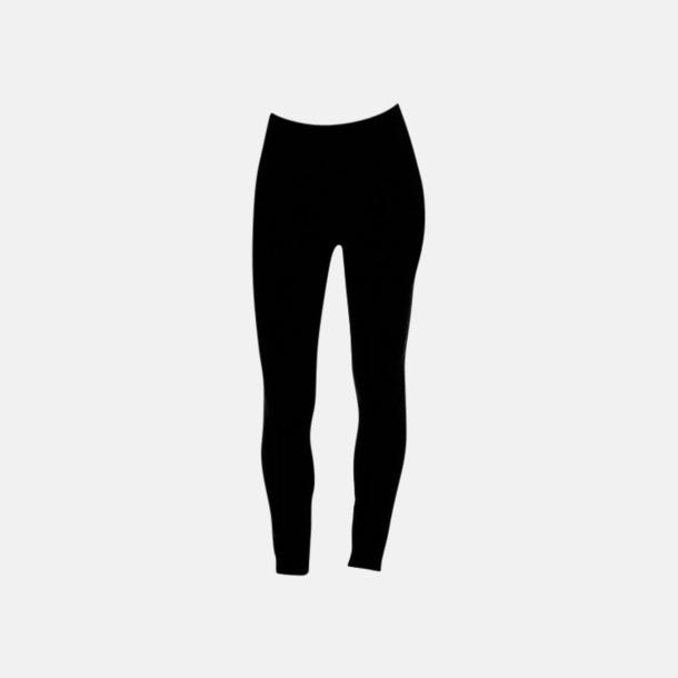 Svart Tjockare leggings med reklamtryck