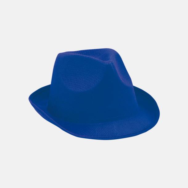 Blå Stilrena stetsonhattar med reklamtryck