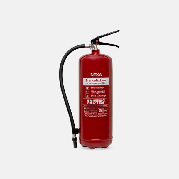 Röd Brandsläckare med pulver- rekommenderas för villa, lägenhet och fritidshus