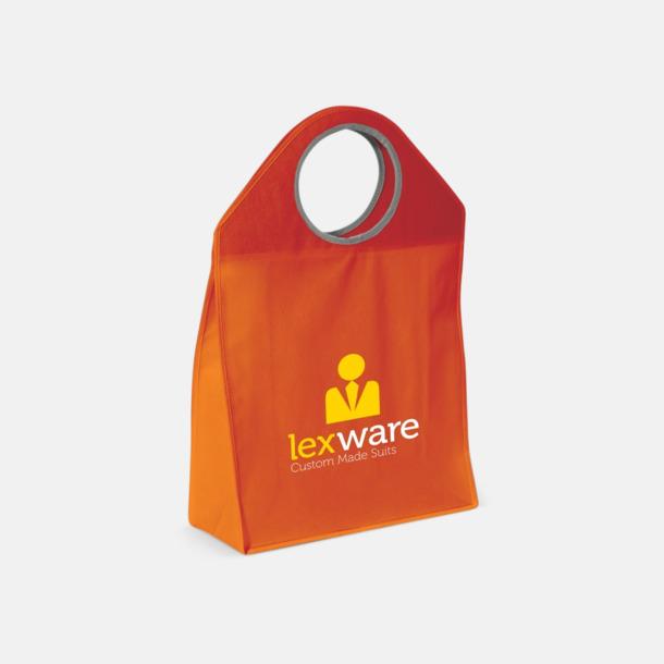 Med reklamtryck Stora non woven-väskor med runda handtag - med reklamtryck