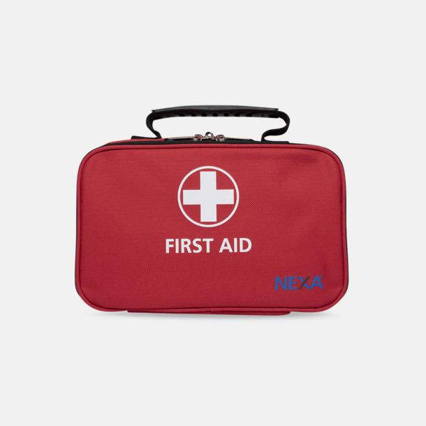 Röd 62-delars första hjälpen-väskor
