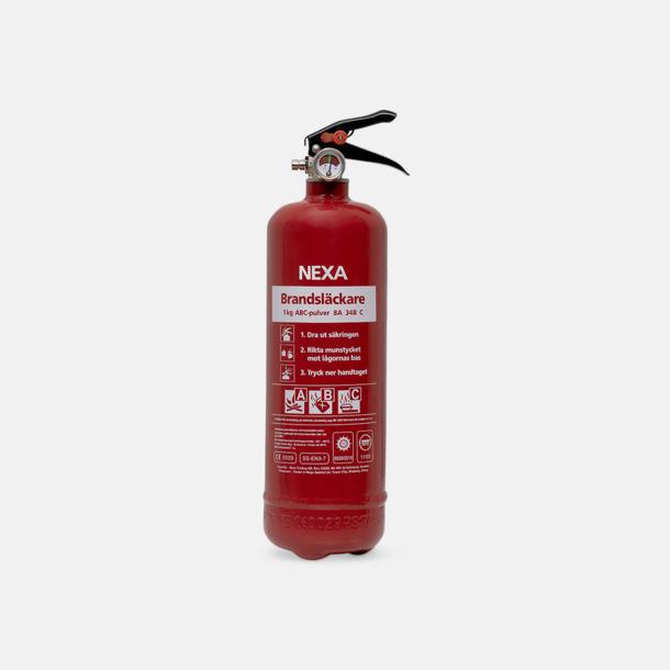Röd Pulversläckare av små bränder - med reklamtryck