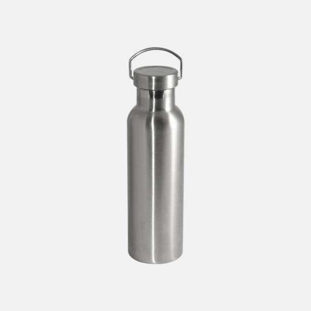 Borstad silver Fina 60 ml-termosflaskor med reklamlogo