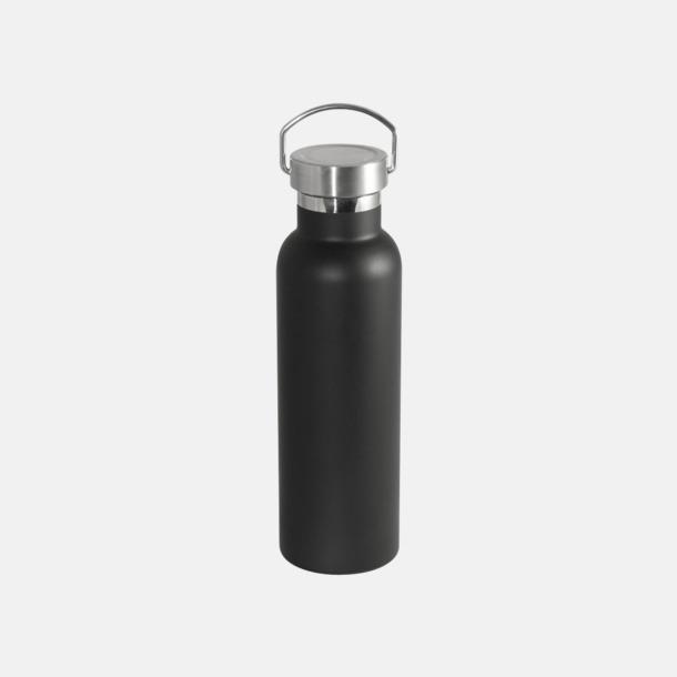 Svart (matt) Fina 60 ml-termosflaskor med reklamlogo