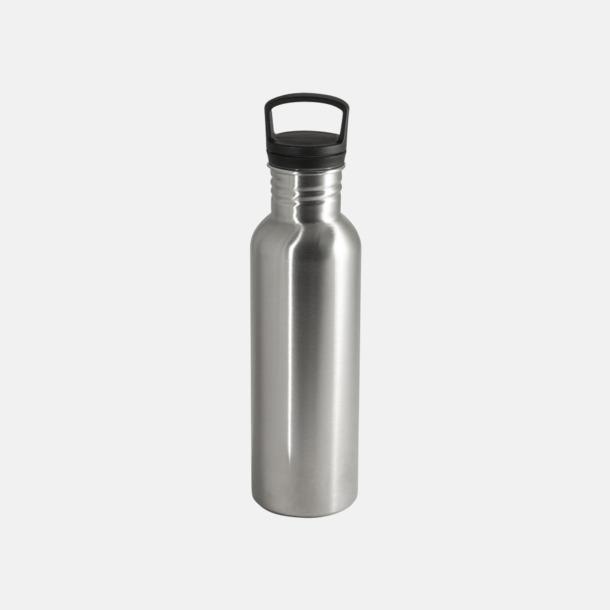 Borstad silver 75 cl metallflaskor med reklamtryck