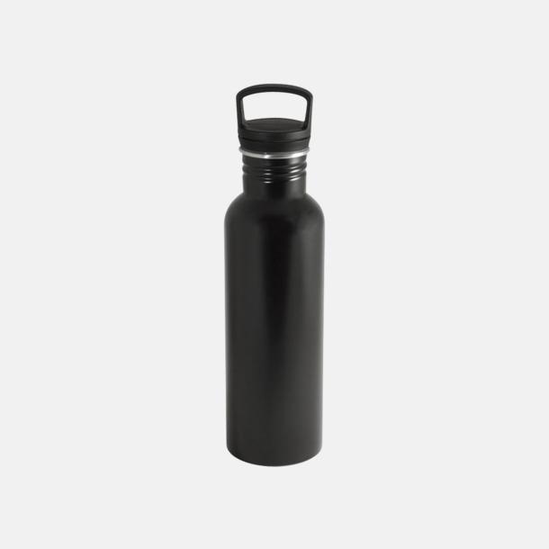 Svart (matt) 75 cl metallflaskor med reklamtryck