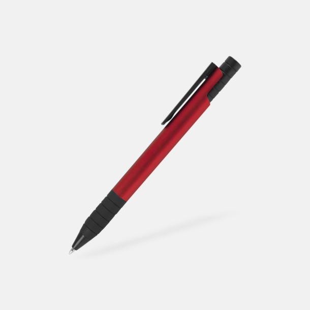 Röd Randiga bläckpennor med reklamtryck