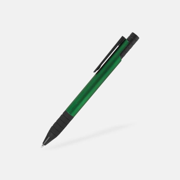 Grön Randiga bläckpennor med reklamtryck