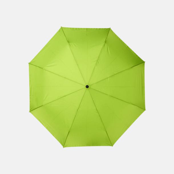 """Lime 23"""" paraplyer av återvunnen plast med reklamtryck"""