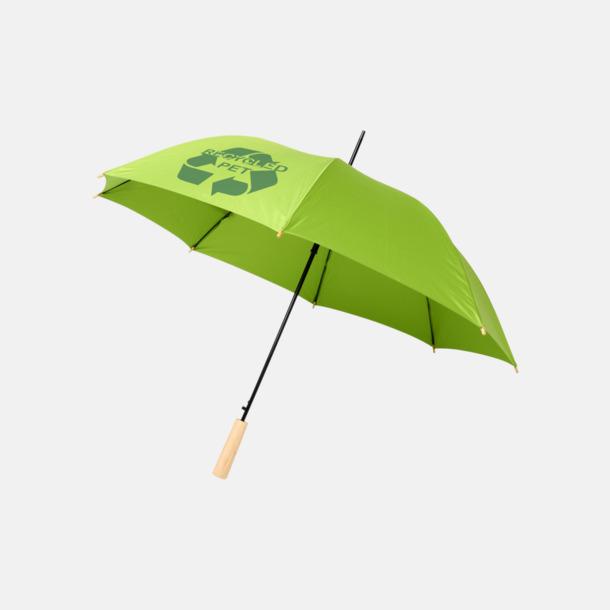 """Med reklamtryck 23"""" paraplyer av återvunnen plast med reklamtryck"""