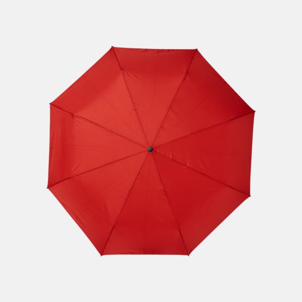 """Röd 23"""" paraplyer av återvunnen plast med reklamtryck"""
