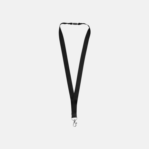 Svart Logoband i bambu med egen logga