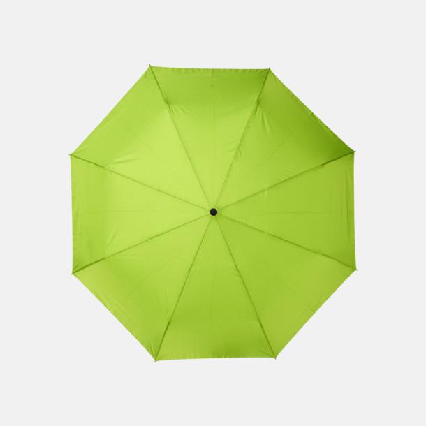 Lime Kompaktparaplyer av återvunnen plast med reklamtryck