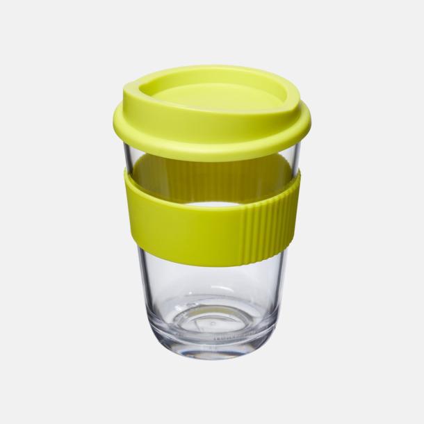 Lime Transparenta 30 cl muggar med lock & grepp - med reklamtryck