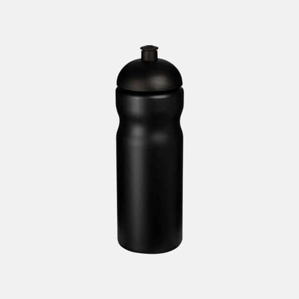 Svart 650 ml sportflaskor med reklamtryck