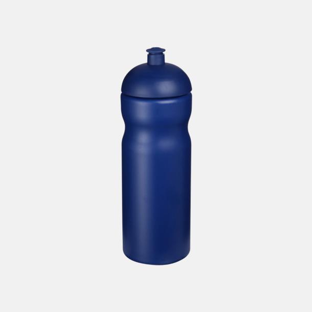 Blå 650 ml sportflaskor med reklamtryck