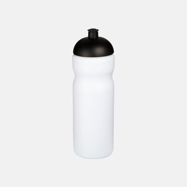 Vit / Svart 650 ml sportflaskor med reklamtryck