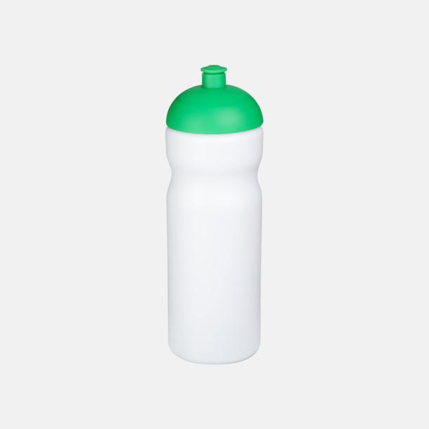 Vit / Grön 650 ml sportflaskor med reklamtryck
