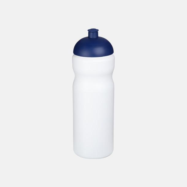 Vit / Blå 650 ml sportflaskor med reklamtryck