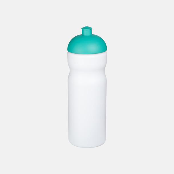 Vit/Aqua 650 ml sportflaskor med reklamtryck
