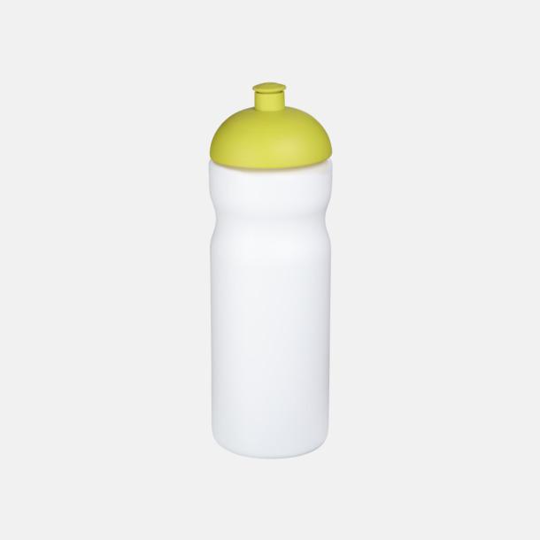 Vit/Lime 650 ml sportflaskor med reklamtryck