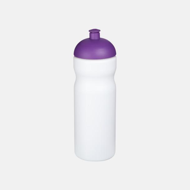 Vit / Lila 650 ml sportflaskor med reklamtryck