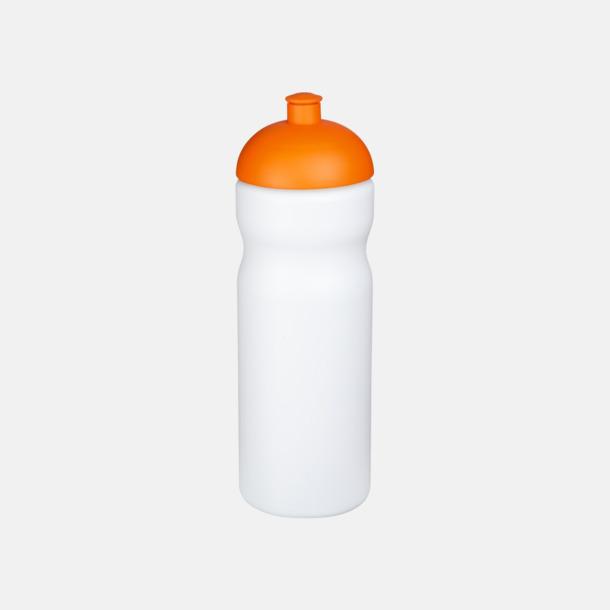 Vit / Orange 650 ml sportflaskor med reklamtryck