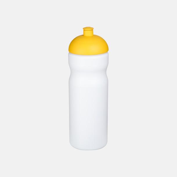 Vit / Gul 650 ml sportflaskor med reklamtryck