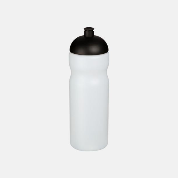 Transparent / Svart 650 ml sportflaskor med reklamtryck