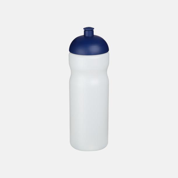 Transparent / Blå 650 ml sportflaskor med reklamtryck