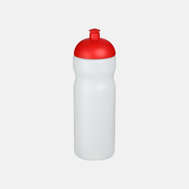 Transparent / Röd 650 ml sportflaskor med reklamtryck