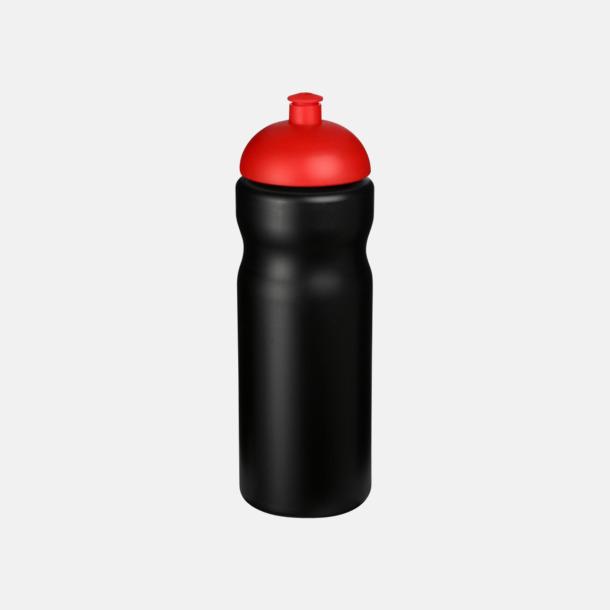 Svart / Röd 650 ml sportflaskor med reklamtryck