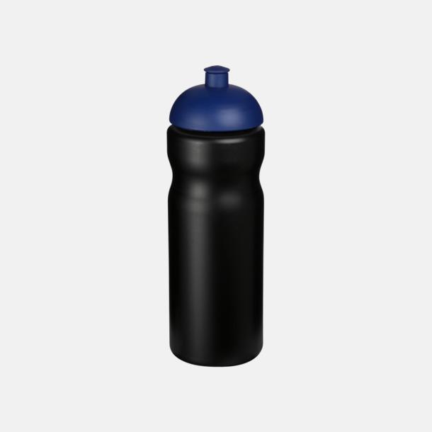 Svart / Blå 650 ml sportflaskor med reklamtryck