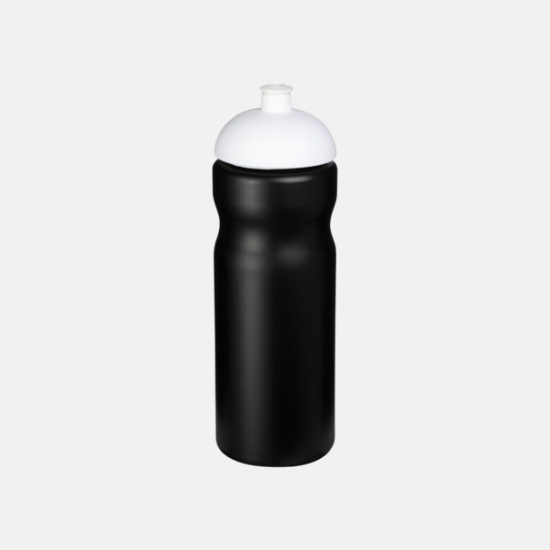 Svart / Vit 650 ml sportflaskor med reklamtryck