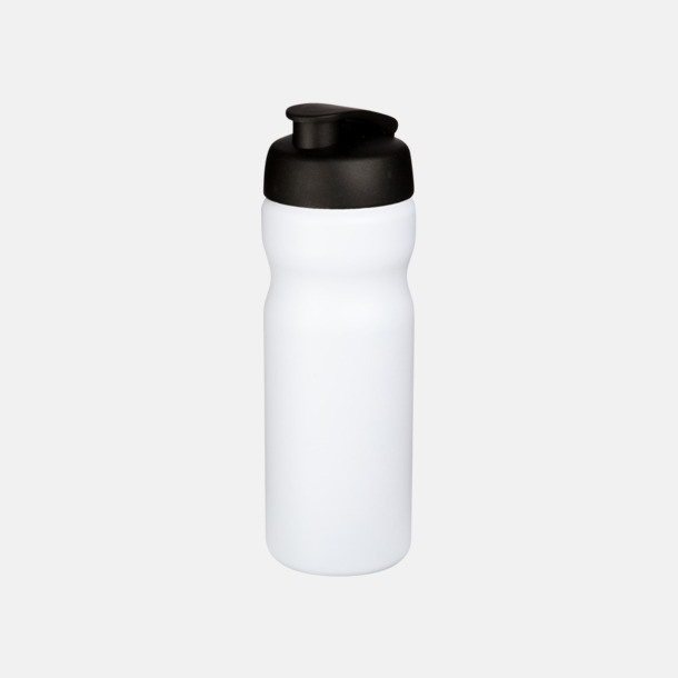 Vit / Svart 65 cl sportflaskor med reklamtryck