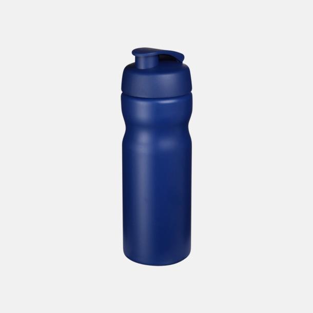 Blå 65 cl sportflaskor med reklamtryck