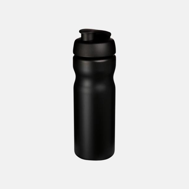 Svart 65 cl sportflaskor med reklamtryck