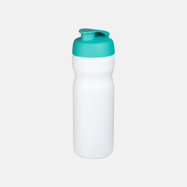 Vit/Aqua 65 cl sportflaskor med reklamtryck