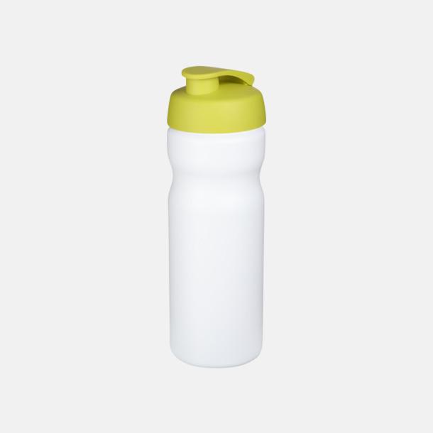Vit/Lime 65 cl sportflaskor med reklamtryck
