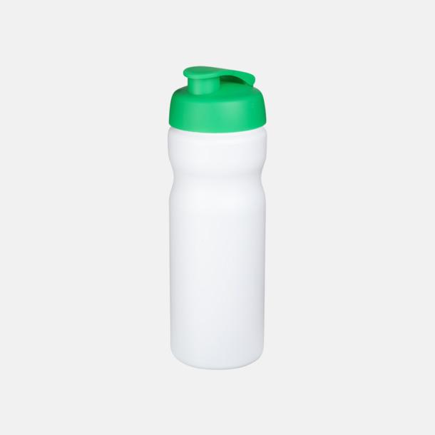 Vit / Grön 65 cl sportflaskor med reklamtryck