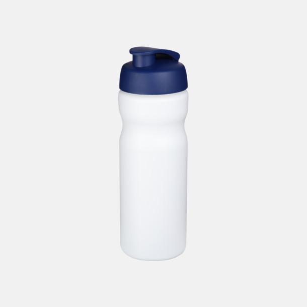 Vit / Blå 65 cl sportflaskor med reklamtryck