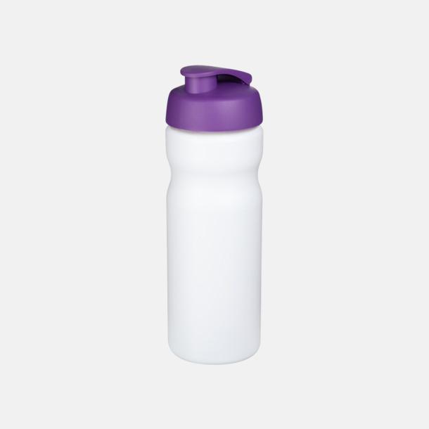 Vit / Lila 65 cl sportflaskor med reklamtryck