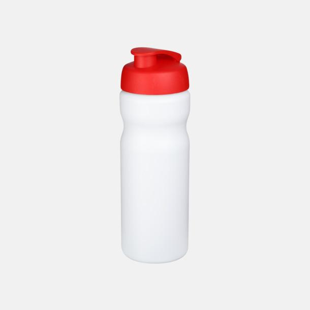 Vit / Röd 65 cl sportflaskor med reklamtryck