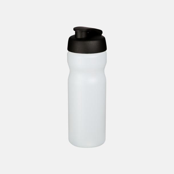 Transparent / Svart 65 cl sportflaskor med reklamtryck