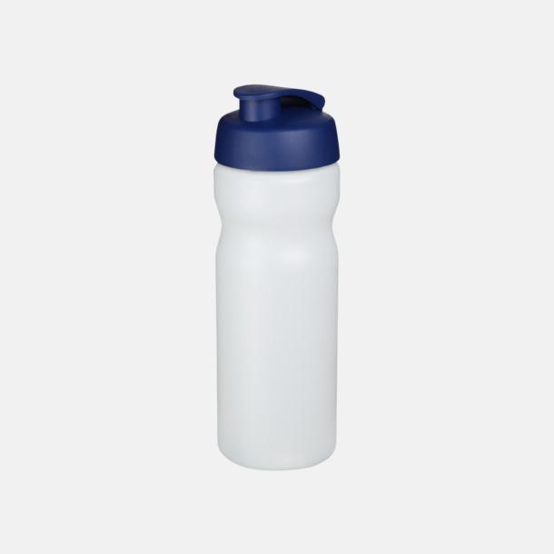 Transparent / Blå 65 cl sportflaskor med reklamtryck