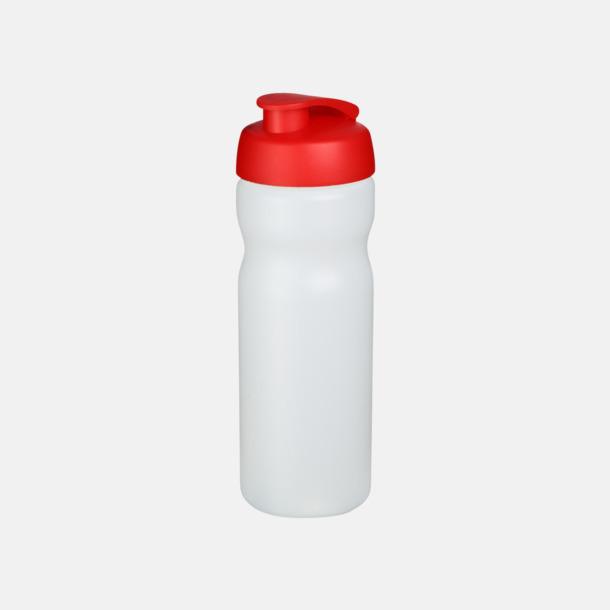 Transparent / Röd 65 cl sportflaskor med reklamtryck
