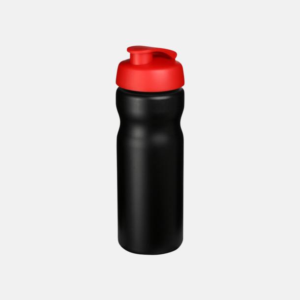Svart / Röd 65 cl sportflaskor med reklamtryck
